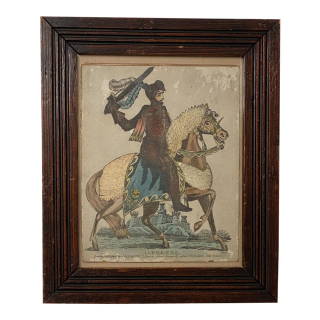 Print of Knight on a Horse, England Circa Early 19th Century For Sale