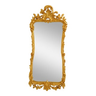 Friedman Brothers Gold Gilt Beveled Mirror For Sale