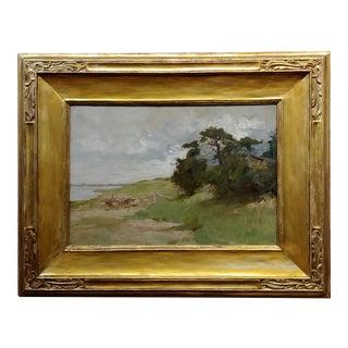 William Stone - Cape Cod Chatham Coastline Landscape - Oil Painting -C. 1909 For Sale