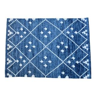 Kota Indigo Woven Wool Rug by Dash & Albert For Sale