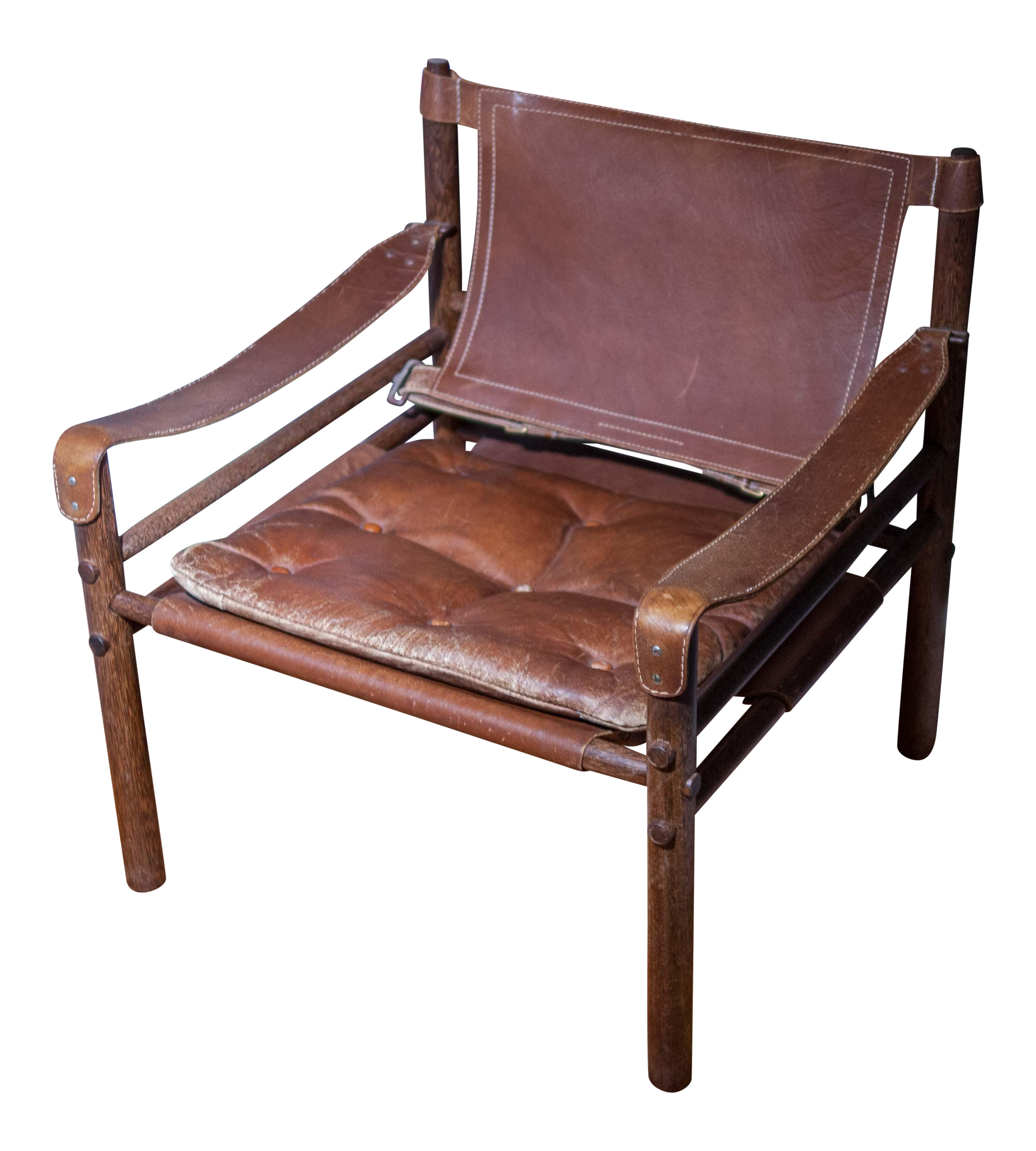 Attrayant Arne Norell Sirocco Safari Leather U0026 Rosewood Chair