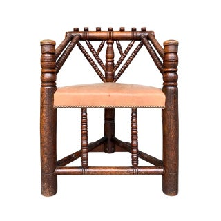 18th Century English Turner's Chair For Sale