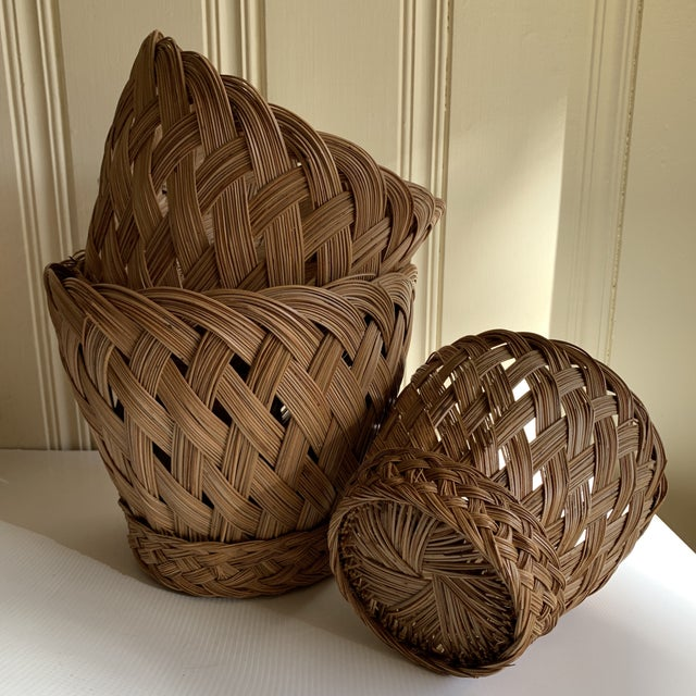 Earthy Classic Basket Vessels, Set of Three For Sale - Image 9 of 13