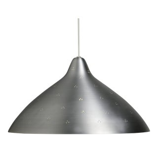 Lisa Johansson-Pape Large Silver Perforated Metal Pendant For Sale