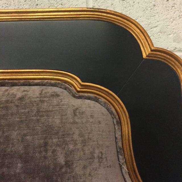Jonathan Charles Jonathan Charles Regency Style Upholstered King Size Headboard For Sale - Image 4 of 11