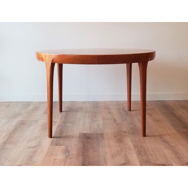 Brown Mid 20th Century Kofod Larsen Teak Circular Extendable Dining Table for Faarup Møbelfabrik For Sale - Image 8 of 8