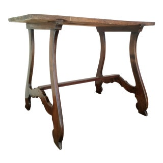 19th Spanish Farm Table or Desk Table For Sale