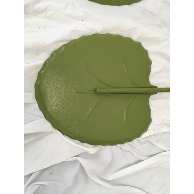 Salterini Green Lily Pad Tables, S/2 - Image 6 of 10