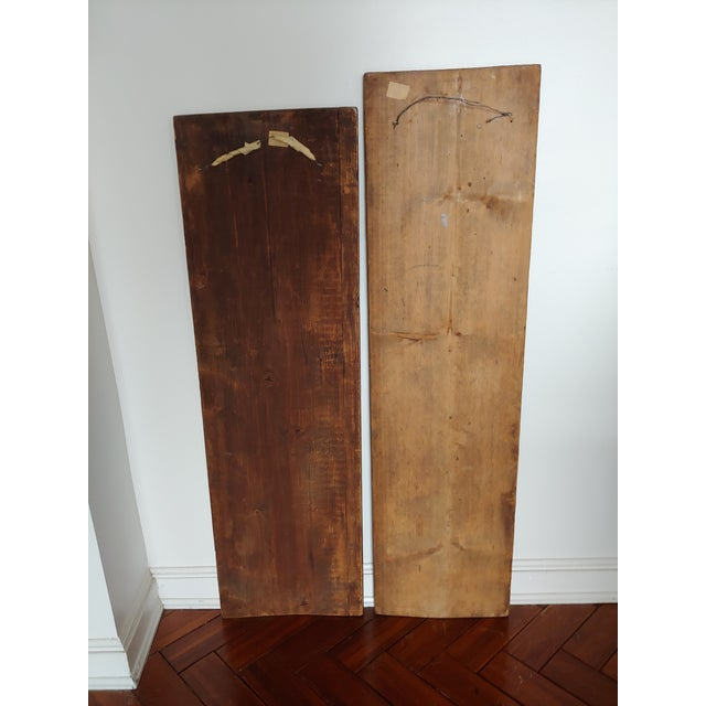 1960s Vintage Scandinavian Royalty Hand Carved Wood Molds - a Pair For Sale - Image 5 of 10