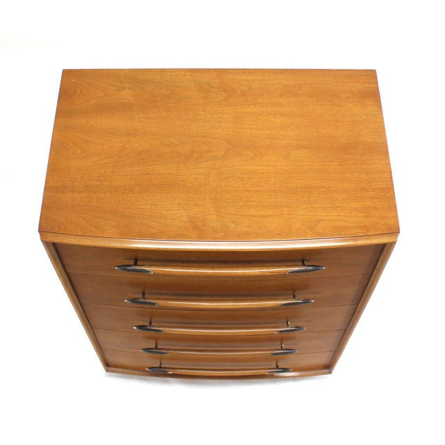Mid-Century Modern Gibbings for Widdicomb High Chest of Drawers For Sale - Image 3 of 7