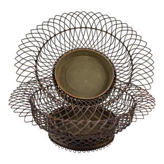 19th Century French Wire Footed Jardinière w/Tin Liner