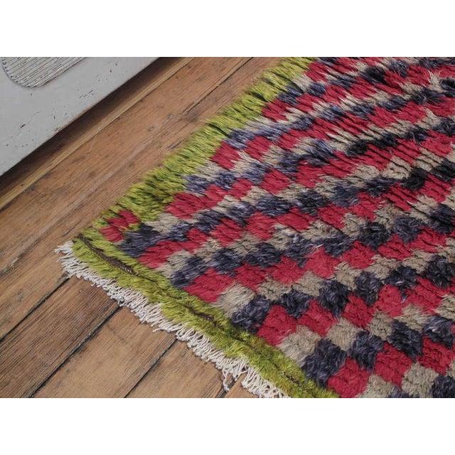 "Primitive Colorful Checkerboard ""Tulu"" For Sale - Image 3 of 6"