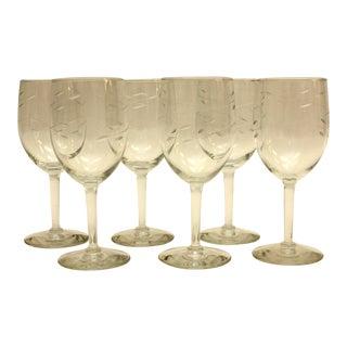 1950s Vintage Wine Glasses - Set of 6 For Sale