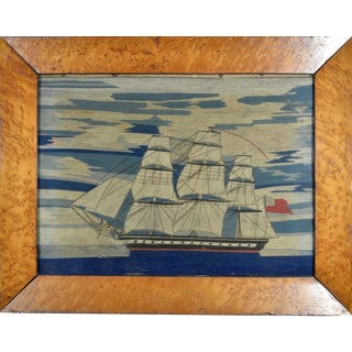 English Sailor's Woolwork of a Royal Navy Ship, Circa 1865 For Sale