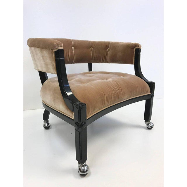 Hollywood Regency Lacquered Slipper Chair For Sale In New York - Image 6 of 6
