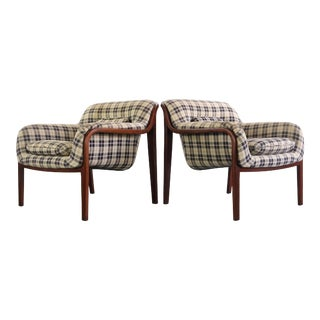 Set of Two Bill Stephens for Knoll Bentwood Club Lounge Chairs For Sale