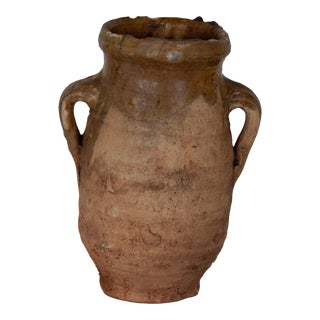 Antique Moroccan Terracotta Vase - X-Small For Sale