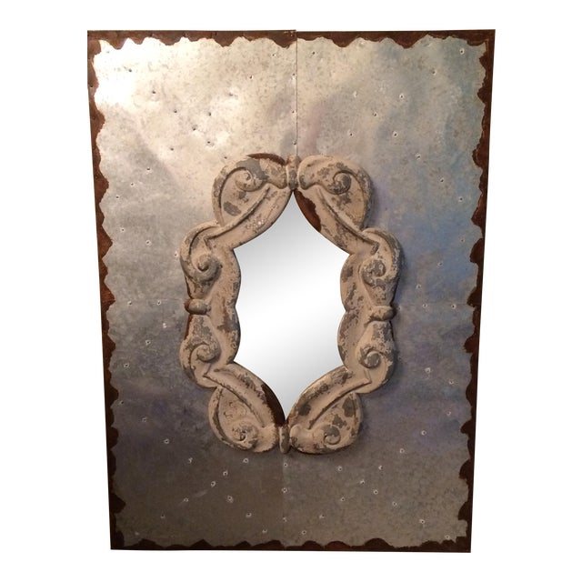 Vintage Industrial Mirror - Image 1 of 6