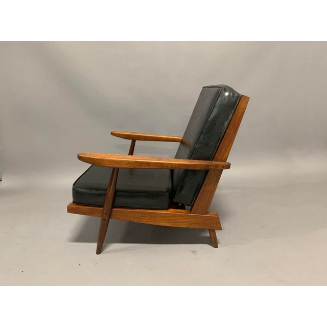 Mid-Century Modern George Nakashima Pair of Spindle Back Lounge Chairs For Sale - Image 3 of 13