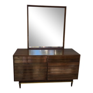 American of Martinsville Mid Century Modern Dresser and Mirror