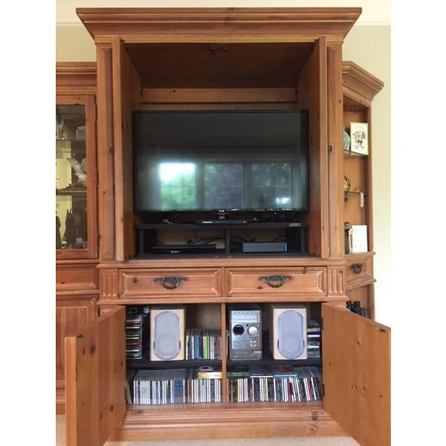 "Thomasville Santiago Entertainment Center / Armoire Purchased new in 1999. Size 55"" x 29"" x 83"". Current TV in picture is..."