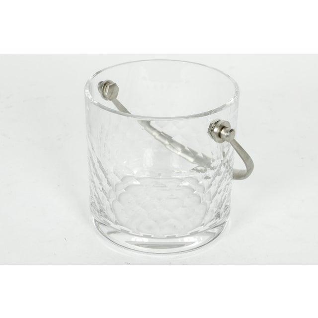 Baccarat Baccarat Crystal Ice Bucket With Plated Handle For Sale - Image 4 of 5