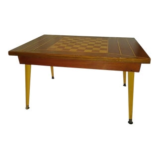 1960s Mid Century Modern Chess Table For Sale