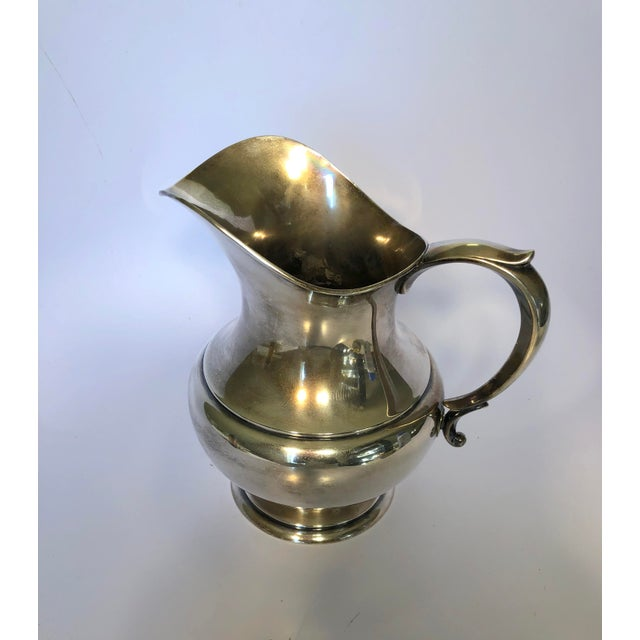 Traditional 1950s Reed & Barton Sterling Silver Pitcher For Sale - Image 3 of 6