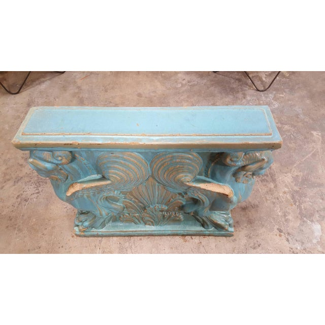 Winged Lion Pedestal by Gladding McBean Pottery For Sale - Image 4 of 6