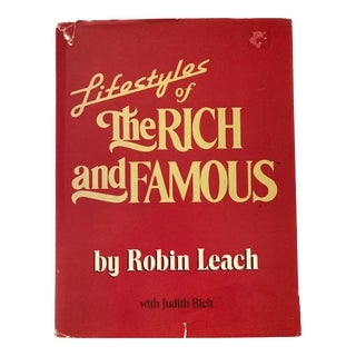 1986 Lifestyles of the Rich and Famous by Robin Leach Book For Sale