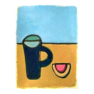 """2010s Pop Art Original Painting, """"Pitcher & Melon"""" by Neicy Frey For Sale"""