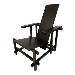 Gerrit Rietveld Black Chair For Sale