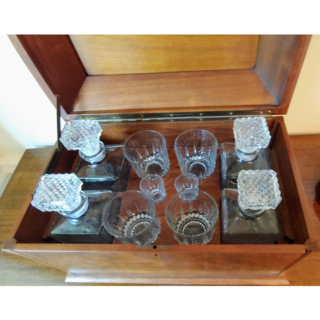 Wiltshire of Winchester Mahogany Liquor Chest With Cut Glassware - 12 Piece Set For Sale - Image 4 of 7