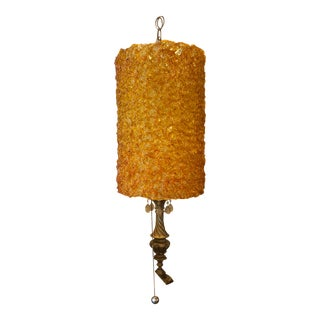 Mid-Century Modern Spaghetti Glass Hanging Lamp For Sale