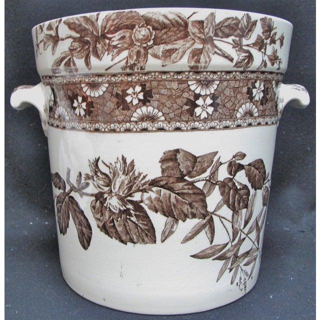 T. Furnival & Sons Brown Hazel 8 Quart Sop Pot Jar and Lid For Sale - Image 10 of 10