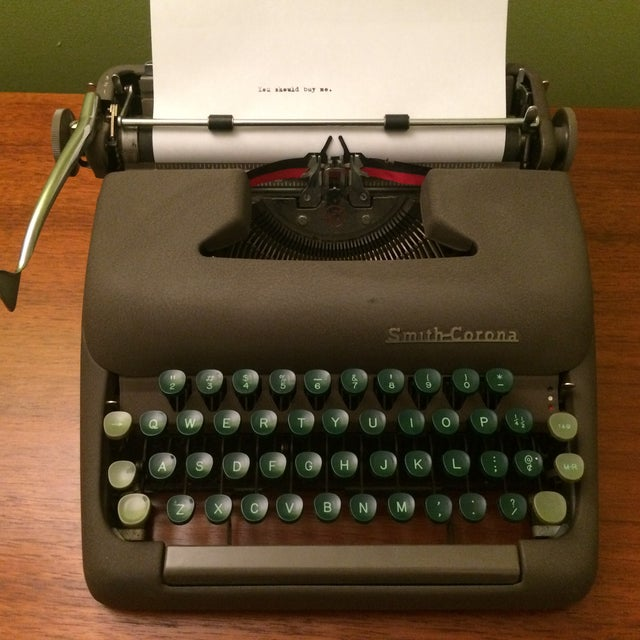 Vintage Smith-Corona Sterling Typewriter & Case - Image 7 of 8