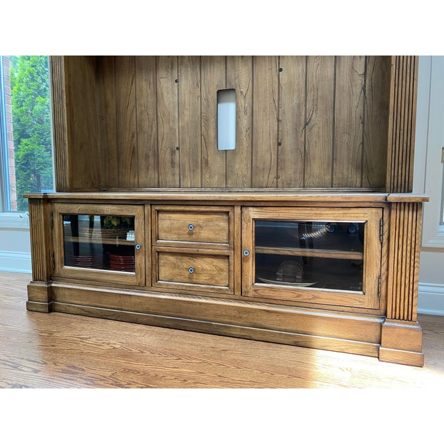 Tv media and display cabinet. Two storage drawers in the middle and two shelves on the bottom with ample storage. The top...