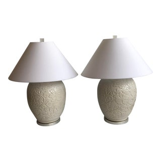1940s Italian Pottery Vase Lamps - a Pair For Sale