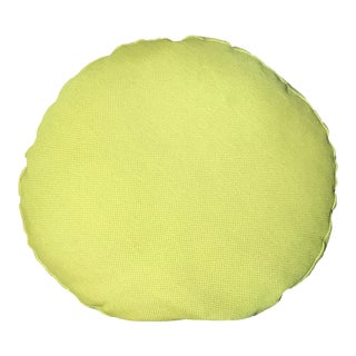 Yellow Custom Round Pillow For Sale