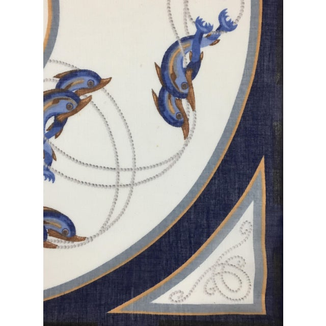 Blue Framed Vintage Gucci Scarf For Sale - Image 8 of 13
