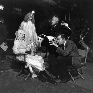 "Director William Castle With Vincent Price on the Set of ""13 Ghosts"" 1960 For Sale"