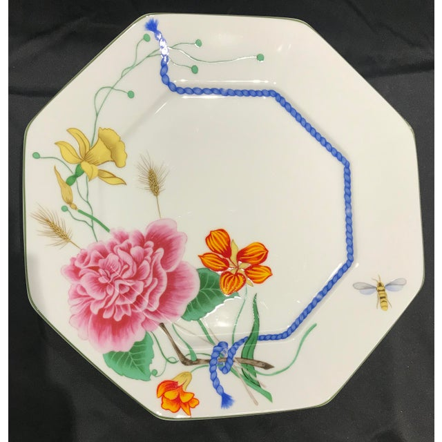 """1990s Lynn Chase """"Flores"""" Assorted Colors Dinner Plates - Set of 14 For Sale - Image 4 of 12"""