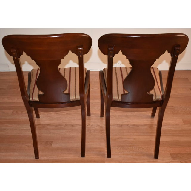 19th Century Antique Empire Solid Mahogany Dining Room Chairs- 6 Pieces For Sale - Image 11 of 13