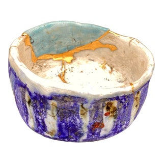 Japanese Raku Pottery Tea Bowl by Chris Heck For Sale