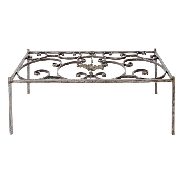 French Iron Grill Coffee Table For Sale