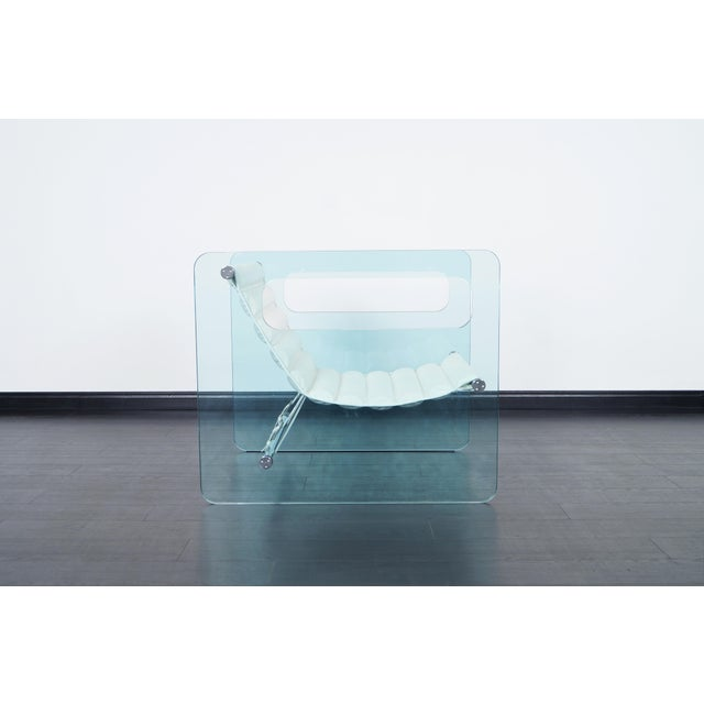 """Naked"" Glass Lounge Chair by Giovanni Tommaso - Image 3 of 7"