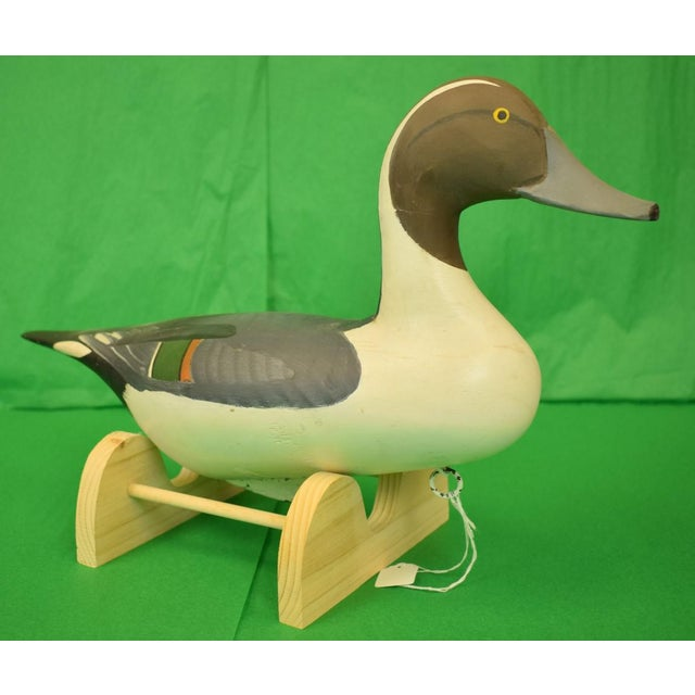 This is a vintage capt. Harry Jobes pintail duck decoy. The piece is from 1987.