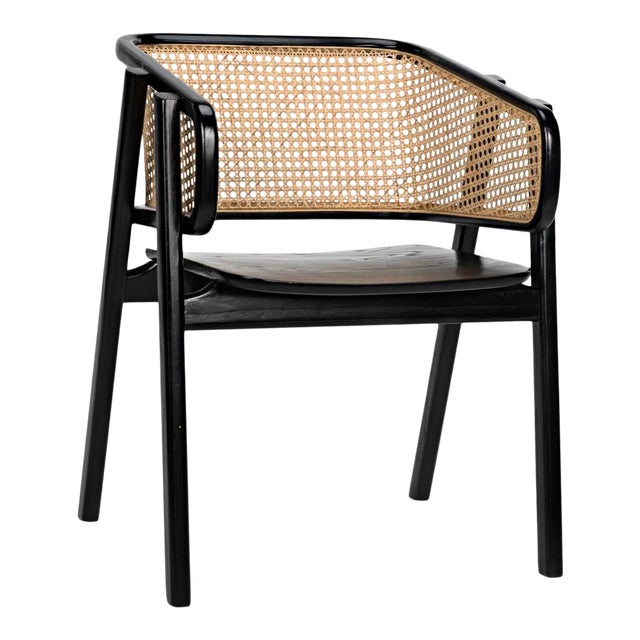 Delphi Chair with Caning, Charcoal Black For Sale