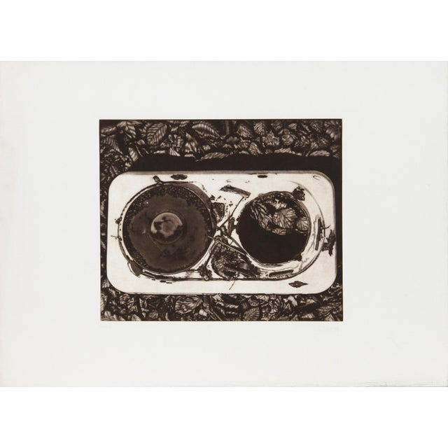 Artist: Gerde Ebert, German (1947 - ) Title: Record Year: 1976 Medium: Mezzotint, signed and numbered in pencil Edition:...