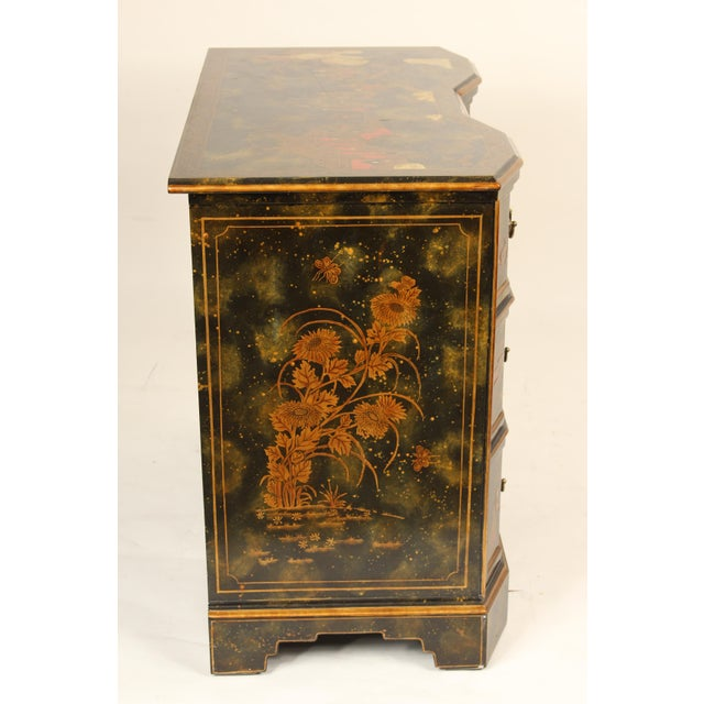 Asian Chinoiserie Maitland Smith Decorated Chest of Drawers For Sale - Image 3 of 13
